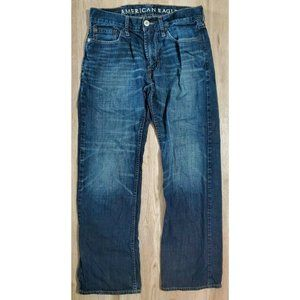 AEO Mens Low Rise Boot Blue Jeans Size 30 x 32